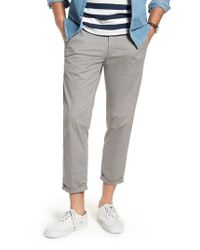 Nordstrom Gray 1901 Crop Chino Pants for men