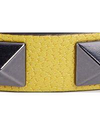 Valentino Yellow Rockstud Leather Bracelet