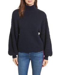Joie - Blue Lathen Mock Neck Sweater - Lyst
