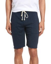 Nordstrom - Blue 1901 Fleece Shorts for Men - Lyst