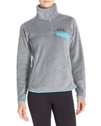 Patagonia - Gray 're-tool' Snap Pullover - Lyst