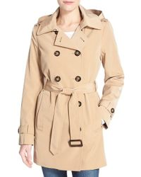 Calvin Klein | Natural Double Breasted Trench Coat | Lyst