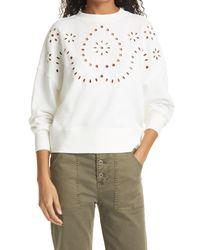 Rails White Alice Cotton Blend Sweatshirt
