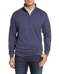 Peter Millar - Multicolor Crown Comfort Jersey Quarter Zip Pullover for Men - Lyst