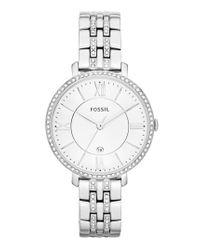 Fossil - Metallic 'jacqueline' Crystal Bezel Bracelet Watch - Lyst