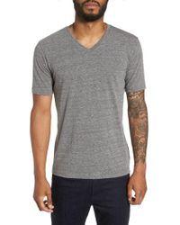 Goodlife - Gray Classic Supima Cotton Blend V-neck T-shirt for Men - Lyst