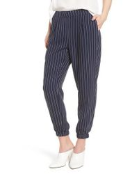 Trouvé Blue Stripe Jogger Pants
