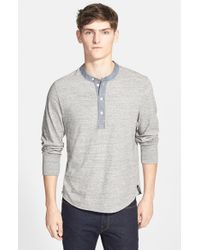 Todd Snyder Gray Classic Henley for men