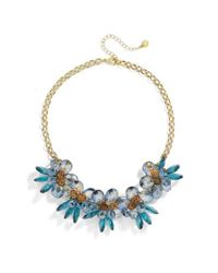 BaubleBar - Blue Large Flower Statement Necklace - Lyst