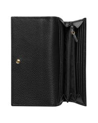 Gucci Black Marmont Leather Continental Wallet