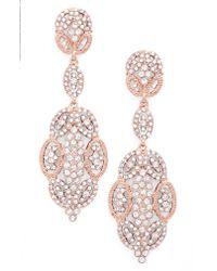 Nina - Multicolor Glamorous Swarovski Crystal Drop Earrings - Lyst