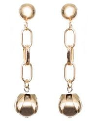 SHOSHANNA LEE - Metallic Orb Drop Chain Earrings - Lyst
