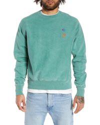 Champion Green Reverse Weave Snoopy Sweatshirt