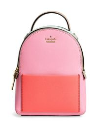 Kate Spade Pink Cameron Street Merry Convertible Leather Backpack