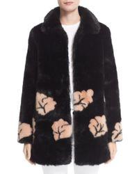 Shrimps   Black Margery Faux Fur Coat   Lyst