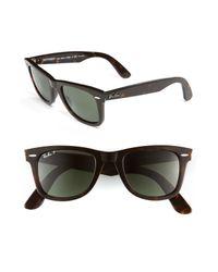 Ray-Ban Black Standard Classic Wayfarer 50mm Polarized Sunglasses