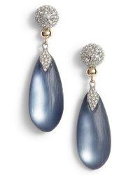 Alexis Bittar   Blue Crystal Encrusted Lucite Drop Earrings   Lyst