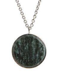 Tom Wood - Green Marble Medallion Necklace - Lyst