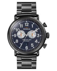 Shinola - Metallic 'the Runwell Chrono' Bracelet Watch - Lyst