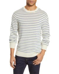 Rag & Bone Blue Harlow Cashmere Crew Classic Fit Midweight Sweater for men