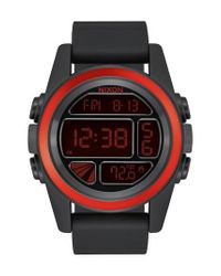 Nixon | Black The Unit Digital Silicone Strap Watch for Men | Lyst
