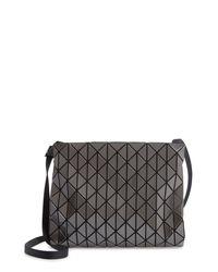 Bao Bao Issey Miyake Gray Row Gloss Shoulder Bag
