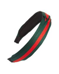 Cara | Green Stripe Headband | Lyst