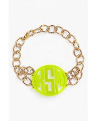 Moon & Lola - Metallic 'annabel' Medium Personalized Monogram Bracelet - Lyst