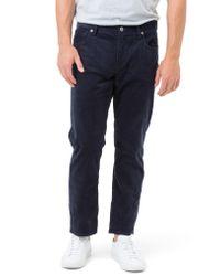 7 Diamonds - Blue Courtland Slim Fit Corduroy Pants for Men - Lyst