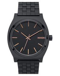 Nixon - Black 'the Time Teller' Bracelet Watch - Lyst