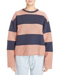 Acne - Blue Diana Stripe Sweatshirt - Lyst