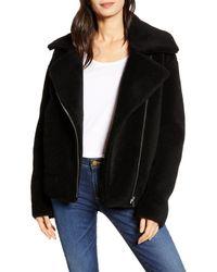 Rebecca Minkoff Black Brutus Wool Moto Jacket