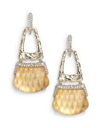 Alexis Bittar - Metallic Lucite Crystal Accent Drop Earrings - Lyst