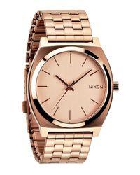 Nixon Metallic 'the Time Teller' Watch