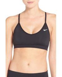 Nike | Gray 'pro Indy' Dri-fit Sports Bra | Lyst