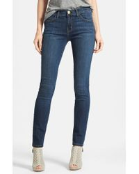 Current/Elliott   Blue 'the Ankle' Skinny Jeans   Lyst
