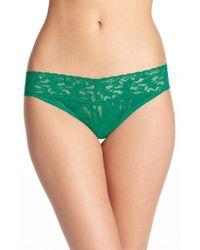 Hanky Panky - Green Regular Rise Lace Thong - Lyst