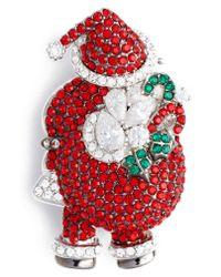 Nadri Red Jolly Santa Pin