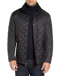 Cole Haan - Black Diamond Quilted Jacket for Men - Lyst