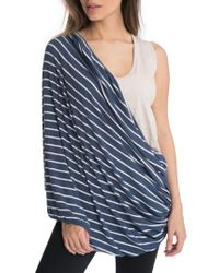 Bun Maternity | Blue All Ways Nursing Scarf | Lyst