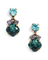Sorrelli - Blue Balsam Crystal Drop Earrings - Lyst