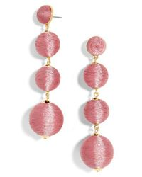 BaubleBar - Pink Criselda Ball Shoulder Duster Earrings - Lyst