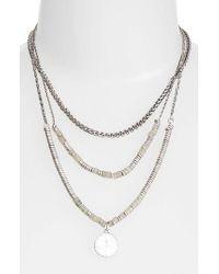Treasure & Bond - Metallic Beaded Frontal Necklace - Lyst