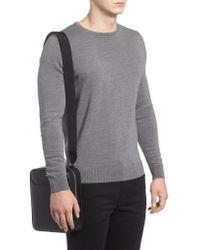 Montblanc Black Sartorial North South Leather Bag for men