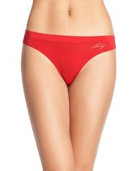 DKNY | Red 'fusion' Thong | Lyst
