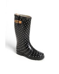 Chooka   Black 'classical Dot' Rain Boot   Lyst