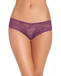 Cosabella - Purple 'trenta' Low Rise Lace Thong - Lyst