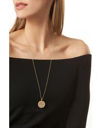 Anna Beck Metallic Medallion Pendant Necklace