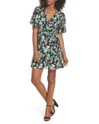 Adelyn Rae Green Kimi Wrap Dress