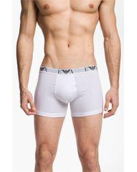 Emporio Armani - 3-pack Boxer Briefs, White for Men - Lyst